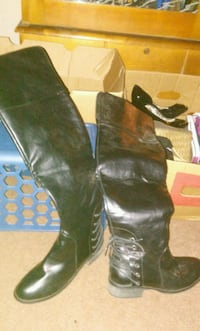 Never worn knee high will woman's boots sz 7.5