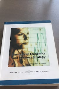 Managerial economics and business strategy , michael baye kitap.