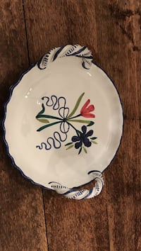 Hand painted serving dish made in Italy
