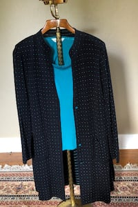 Misook Teal and Black two piece outfit SANDIEGO