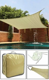 Brand new 12x12 feet square top sail sun shade canopy patio outdoor Whittier, 90605