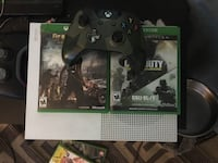 Xbox one S console with controller, cords, 3 games and a month of love it's brand new only used twice. Commerce Township, 48390