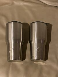2 OZARK TRAIL VACCUM INSULATED STAINLESS STEEL 30 OZ TUMBLERS