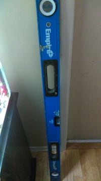 Used Blue And White Empire Brand Spirit Level For Sale In