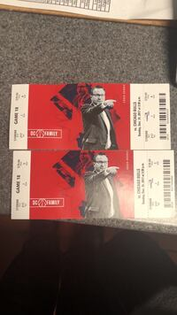 two black and red tickets 51 km