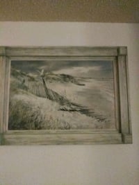 brown wooden framed painting of river Mesa, 85210