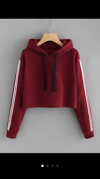 Red and white pullover hoodie Quincy, 02169