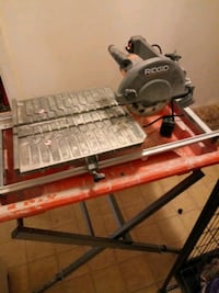 gray and red miter saw 46 mi