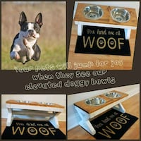 Elevated Doggy Bowls made to order Grand Island, 14072
