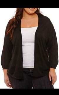 Women's black cardigan 1x