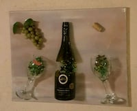Wine bottle & glasses art Louisville, 40291