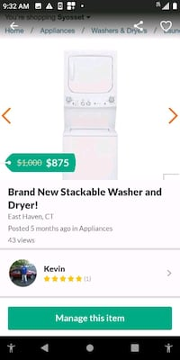 Used Brand New Ge Stackable Washer And Dryer For Sale In