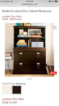 Pottery Barn Bedford Lateral File Cabinet bookcase Bowie, 20716