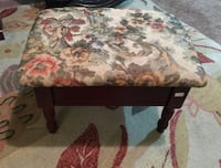 rectangular white, green, and black floral ottoman Barrie, L4N 5G8