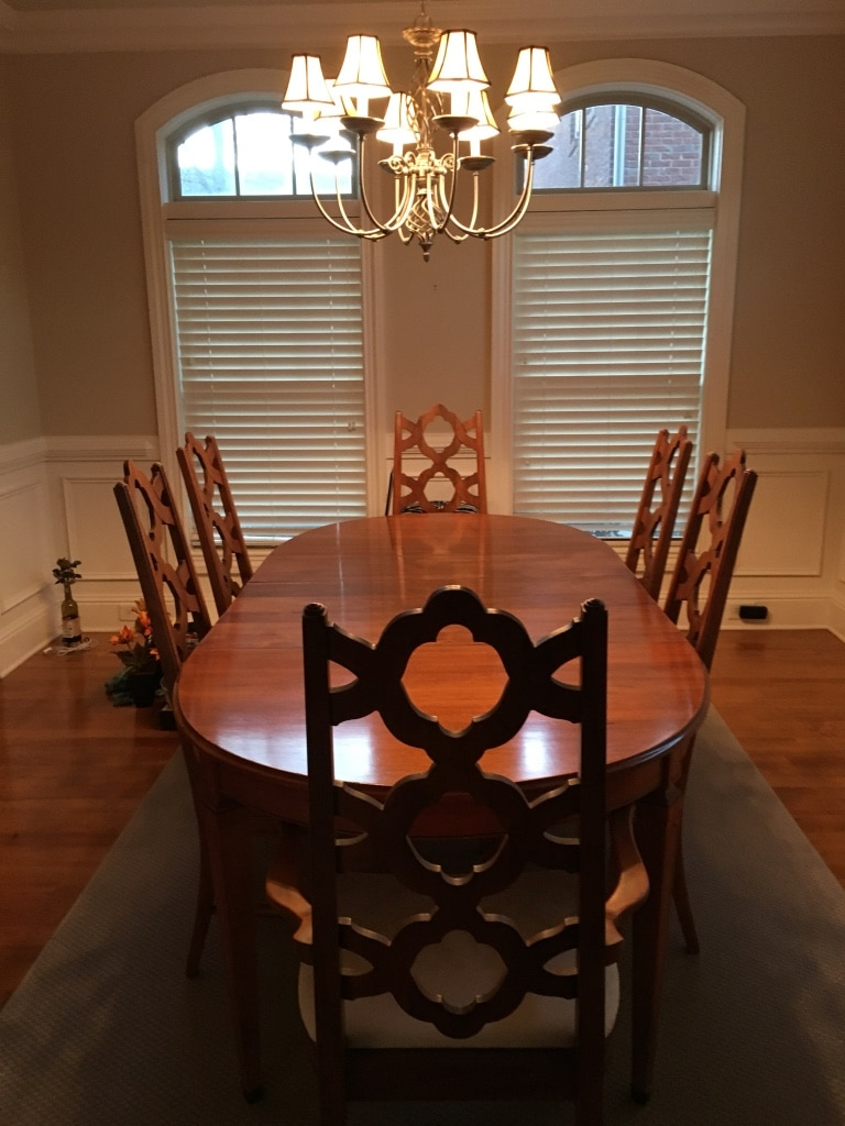 used brown wooden dining table set for sale in johns creek letgo rh gb letgo com