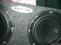 black and gray Pioneer subwoofer 2049 mi