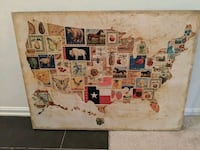 Framed unique map of United States  Fairfax, 22031