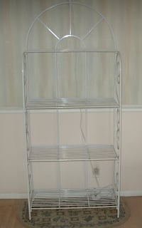 White Metal Frame 4 Shelf Indoor Rack - See all 4 Pictures 236 mi