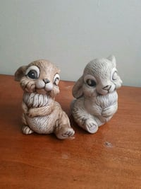 two brown and white owl ceramic figurines Mission, V2V 1Z8