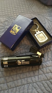 Black RBC dominion securities LED flashlight RBC silver key chain and  box Toronto, M4S 1M4