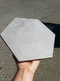 Hexagon tiles, 8 by 10, made in Italy, from Ames Port Coquitlam, V3C 5C6
