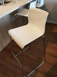 3 white and chrome chairs $60  Vancouver, V6B 1S3