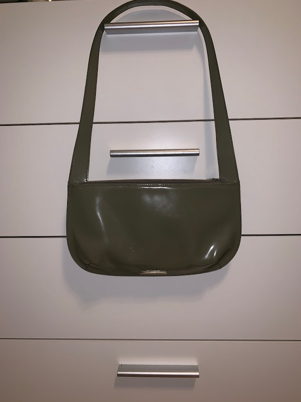 Olive Green Paten Leather Fula Bag