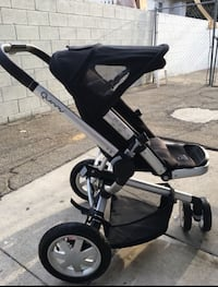 Black and silver quinny stroller