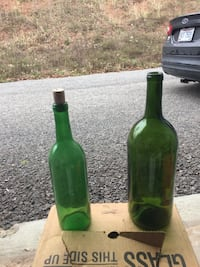 Wine bottles for wine making small and large some with corks