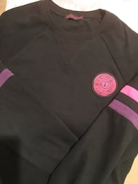 Black and pink crew neck sweater