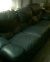 Blue 3seat leather coach reclining Port Richey, 34668