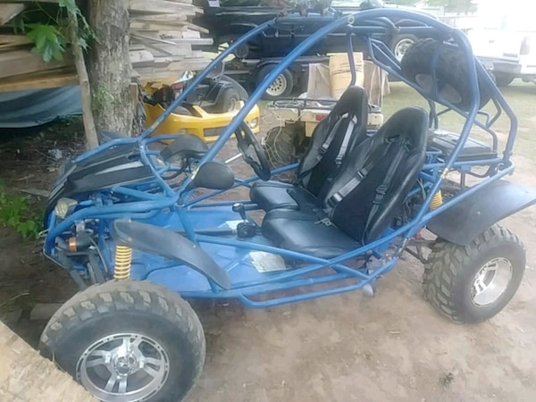 blue and black dune buggy