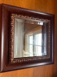 Burgundy Framed Square Mirror  Vienna, 22180