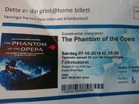 To billetter til The Phantom of The Opera Nordstrand, 0677