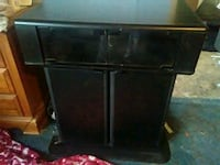 black wooden TV stand with cabinet Gaithersburg, 20878