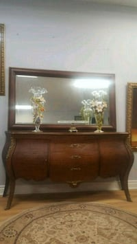 brown wooden dresser with mirror Aurora