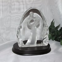 "Carved Glass Figurine with Base 6"" tall Mother Bab Mississauga, L4X 1S2"