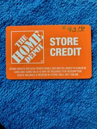 Home Depot In-Store Credit
