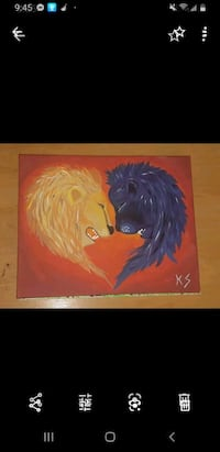 Lion heart painting