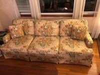 brown and red floral 3-seat sofa Waterford, 06385