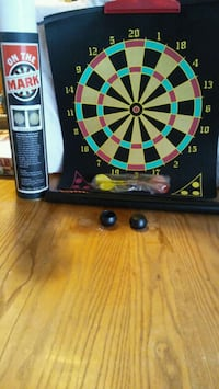 On The Mark -- portable magnetic dart board