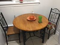 Wooden Table w/ Green Accents  562 mi