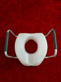 Raised Locked Toilet Seat with Arms