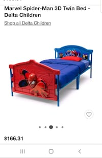 Spiderman twin bed Mechanicsville, 20659