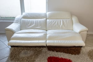 White electrically comfort 2-seat sofa today Friday morning only!