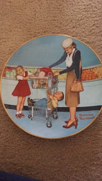 brown and blue ceramic decorative plate Pottstown, 19464