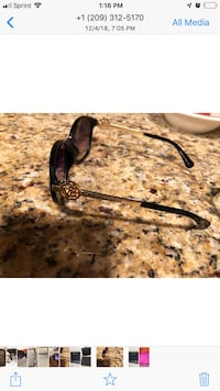 black framed sunglasses with black lens Tracy, 95376