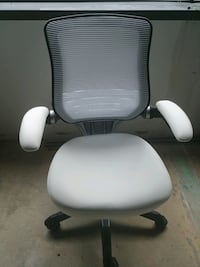 Office chair white leather Germantown
