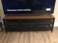 Wooden and Steel Entertainment Console