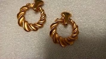 Large Clip on Custom Gold Earrings - NEW